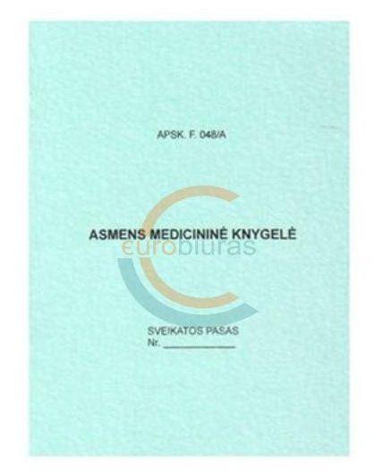 Kam reikalinga medicininė knygelė?